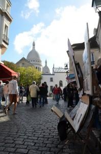 Ráno na Place du Tertre