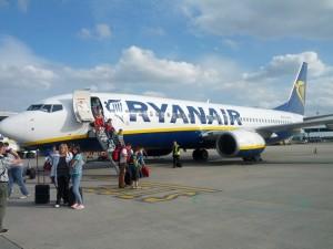 Naše letadlo po šťastném přistání