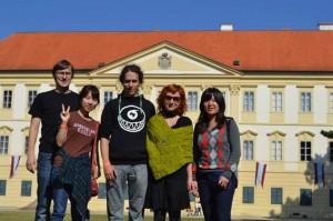 Účastníci zájezdu :) - zleva Franta, Sun, Milíčovi a Moe