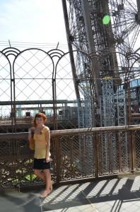 V prvním patře Eiffelovky