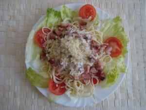 Varianta s anglickou slaninou a čerstvým salátem :)